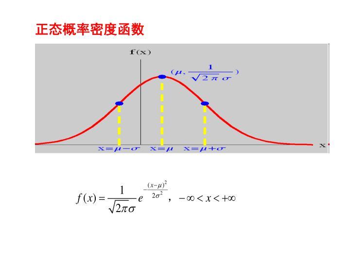 正态概率密度函数