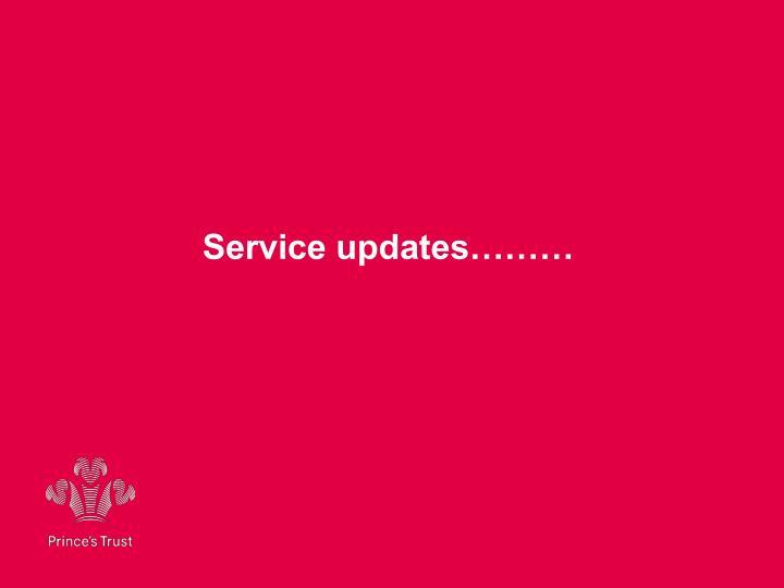 Service updates………