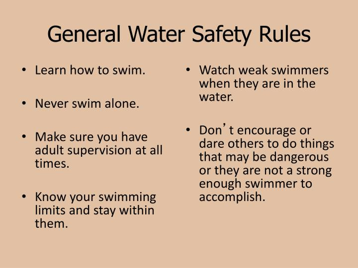 General Water Safety Rules