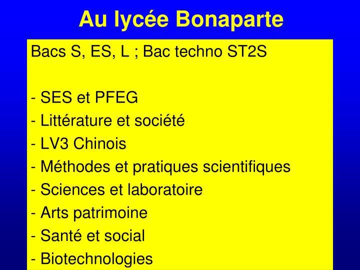 Au lycée Bonaparte