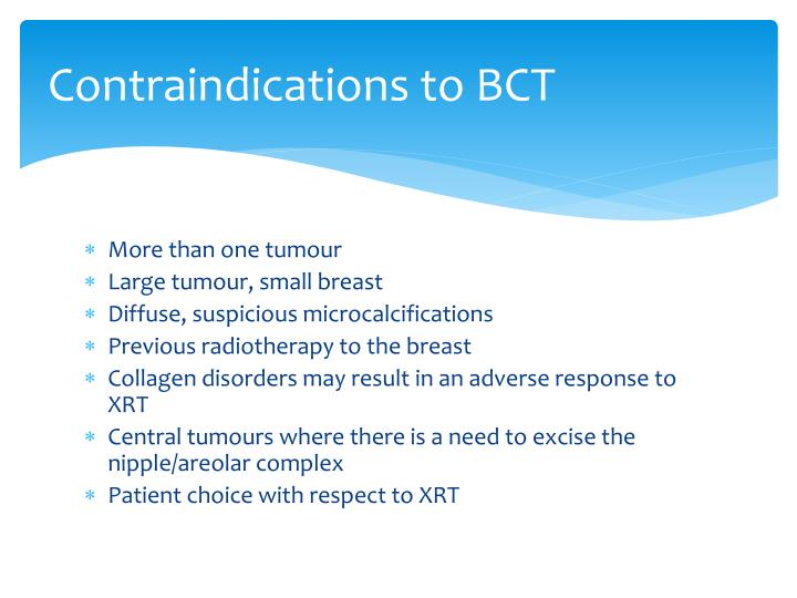 Contraindications to BCT