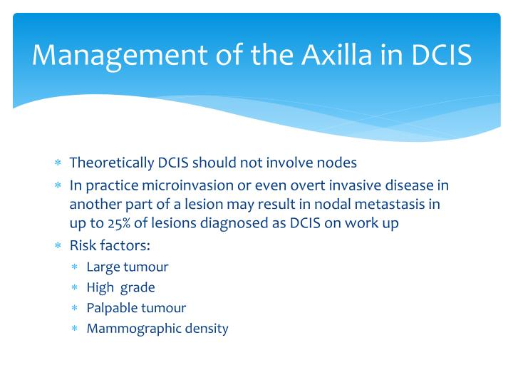 Management of the Axilla in DCIS