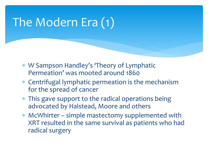 The Modern Era (1)