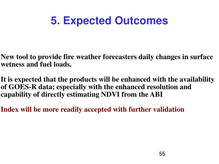 5. Expected Outcomes