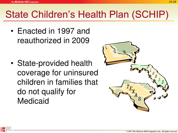 State Children's Health Plan (SCHIP)