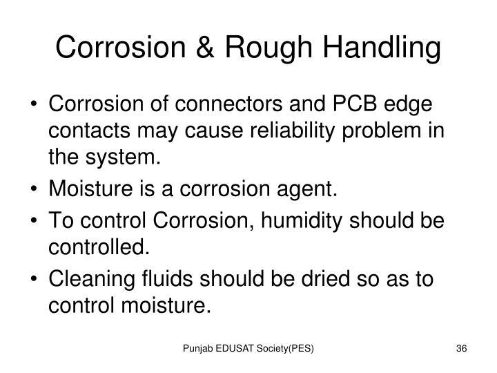 Corrosion & Rough Handling