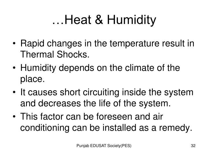 …Heat & Humidity