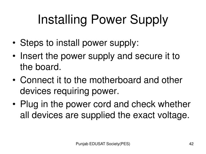 Installing Power Supply