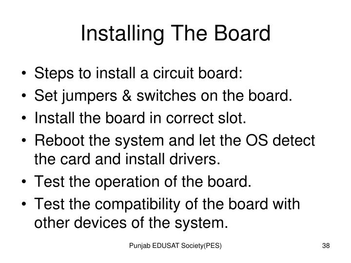 Installing The Board