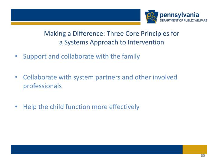 Making a Difference: Three Core Principles for