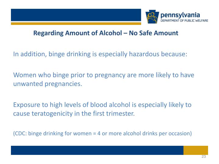 Regarding Amount of Alcohol – No Safe Amount