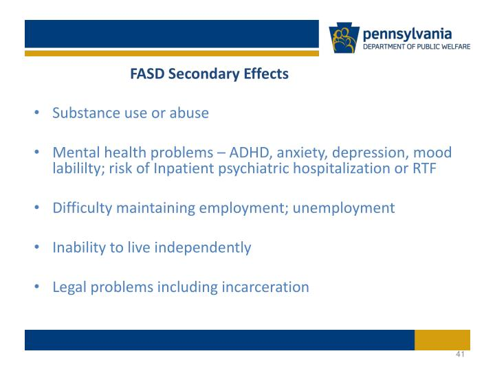 FASD Secondary Effects