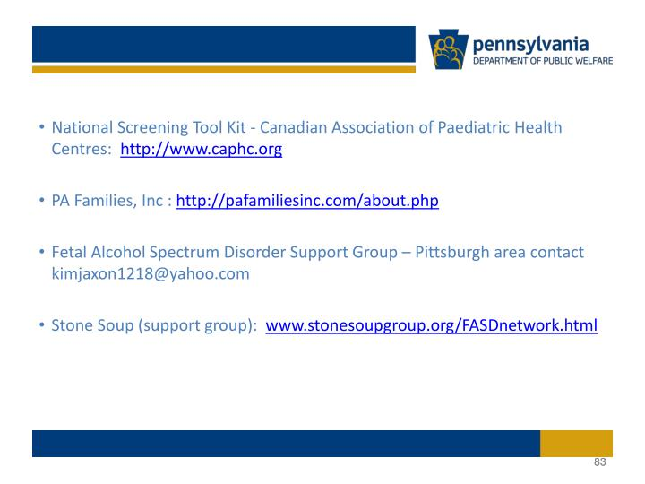 National Screening Tool Kit - Canadian Association of