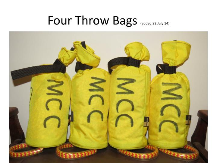 Four Throw Bags