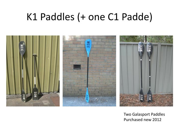 K1 Paddles (+ one C1
