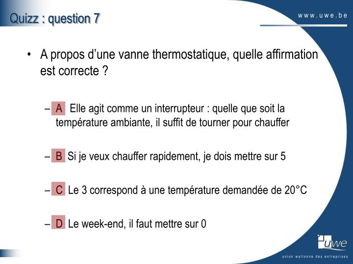 Quizz : question 7