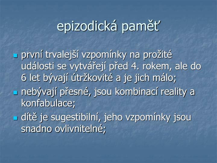 epizodická