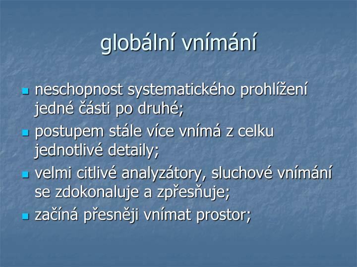 globální vnímání