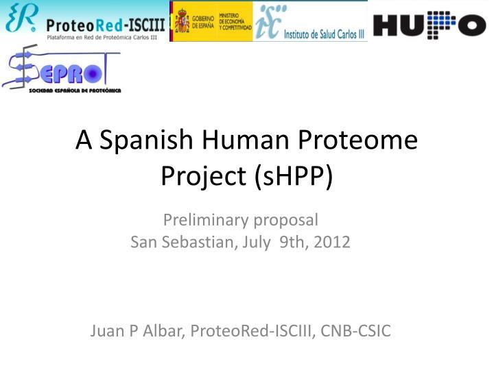 A Spanish Human Proteome Project (sHPP)