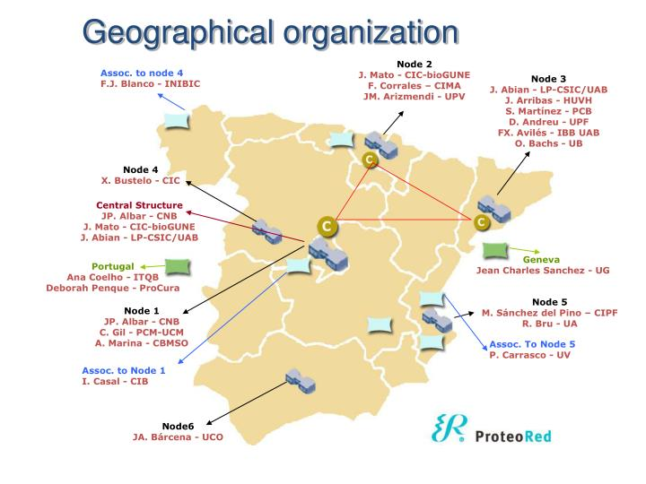Geographical organization