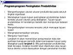 program program peningkatan produktivitas