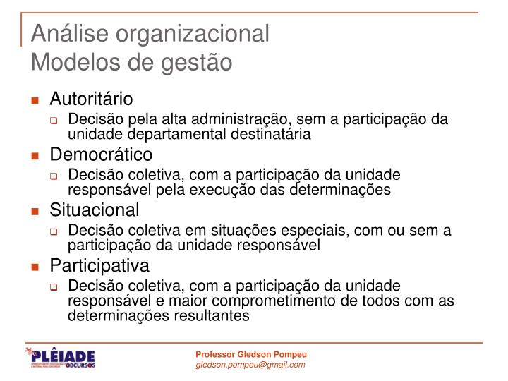 Análise organizacional