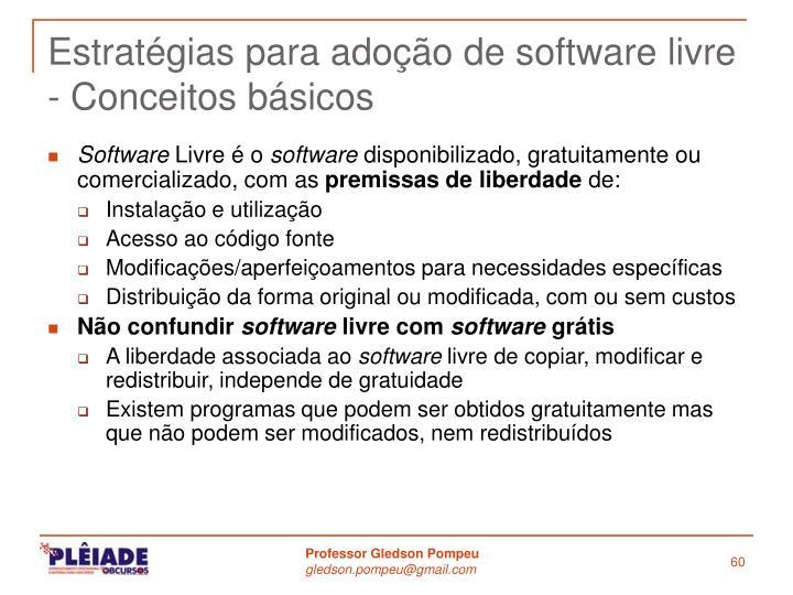 Estratégias para adoção de software livre