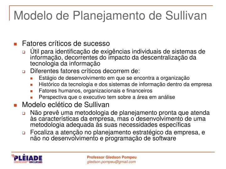 Modelo de Planejamento de Sullivan