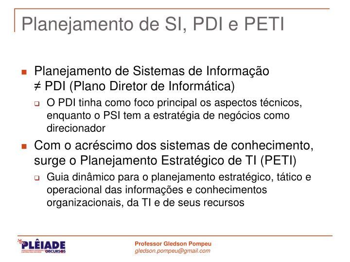Planejamento de SI, PDI e PETI
