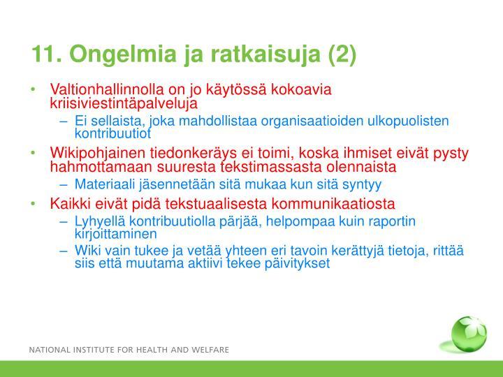 11. Ongelmia ja ratkaisuja (2)
