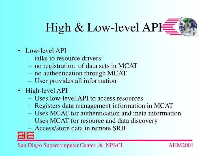 Low-level API