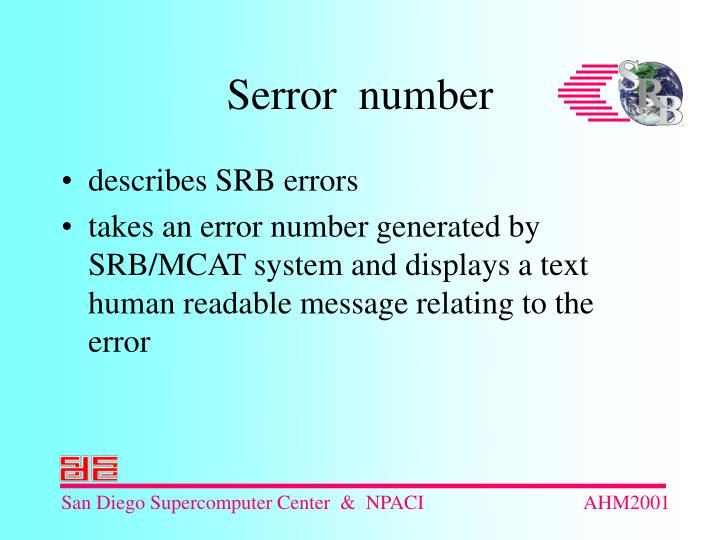 describes SRB errors