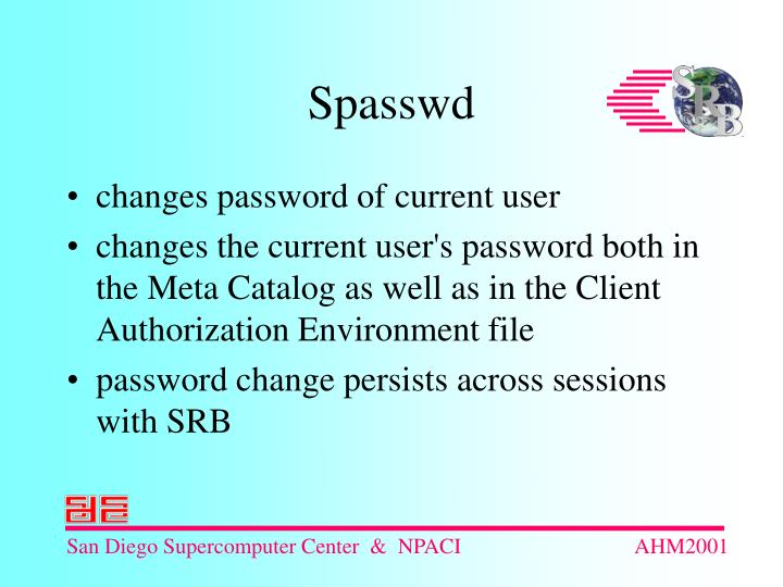 changes password of current user