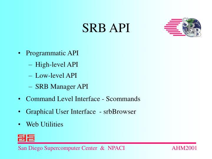 Programmatic API