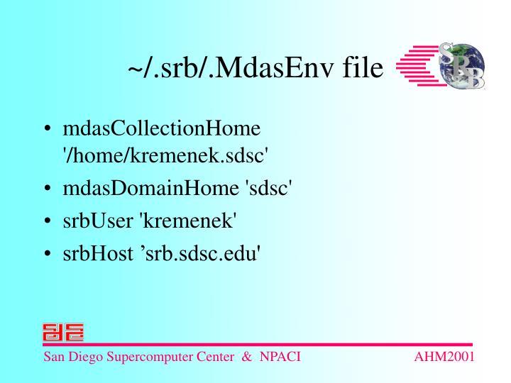 mdasCollectionHome '/home/kremenek.sdsc'