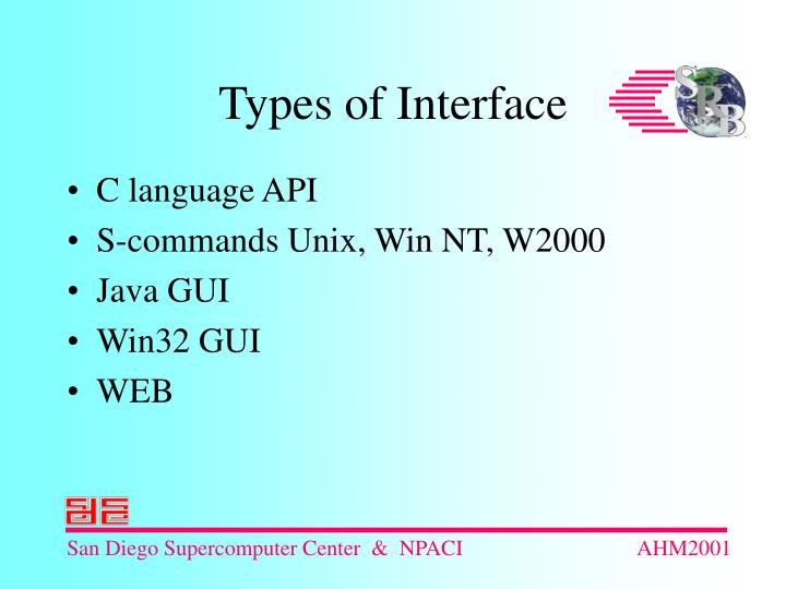 Types of interface