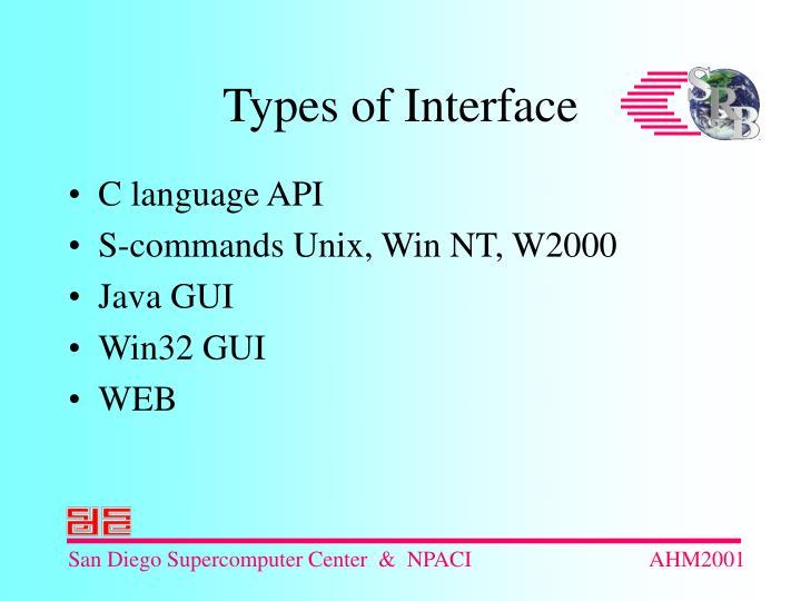C language API
