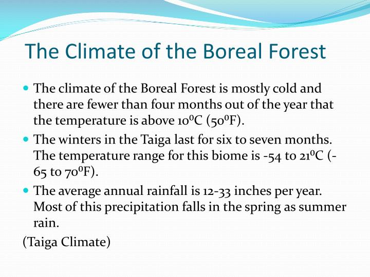 The Climate of the Boreal Forest