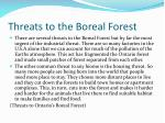 threats to the boreal forest
