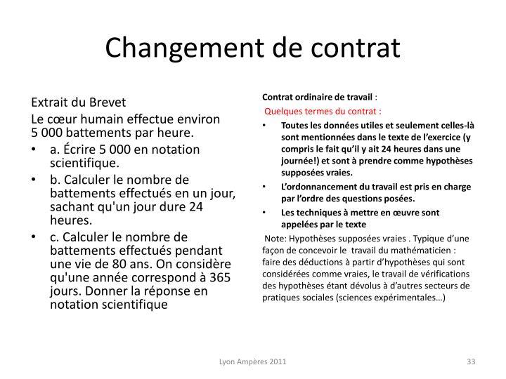 Changement de contrat