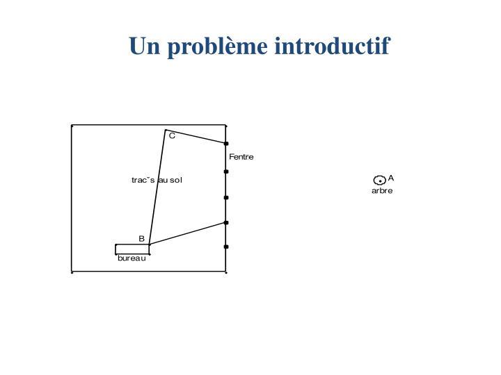 Un problème introductif