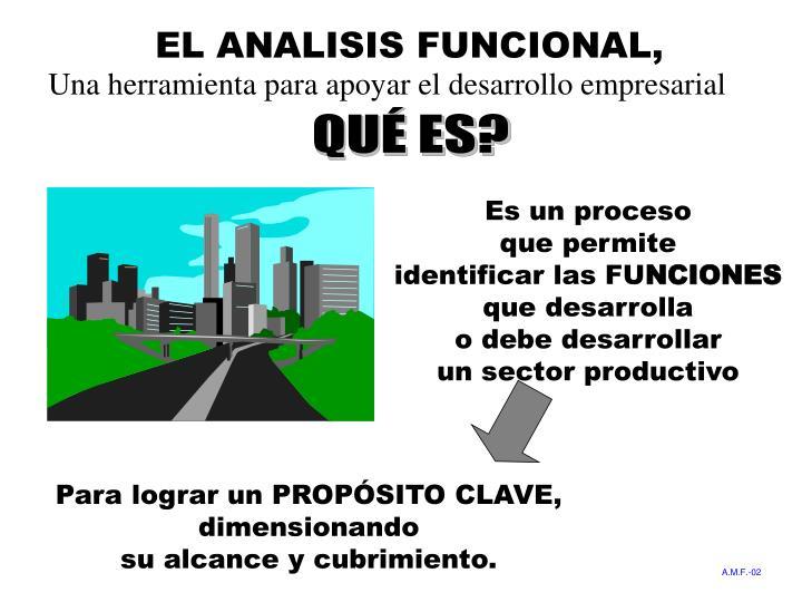 EL ANALISIS FUNCIONAL,