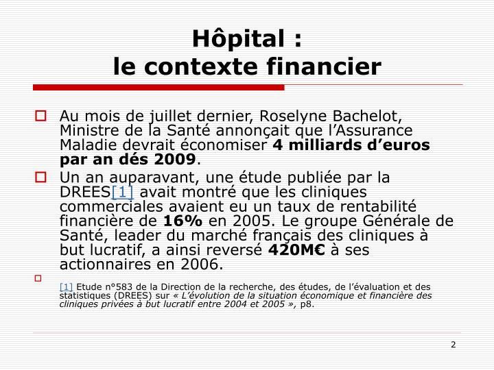 Hôpital :