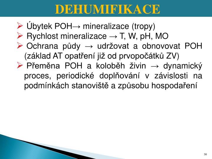 DEHUMIFIKACE