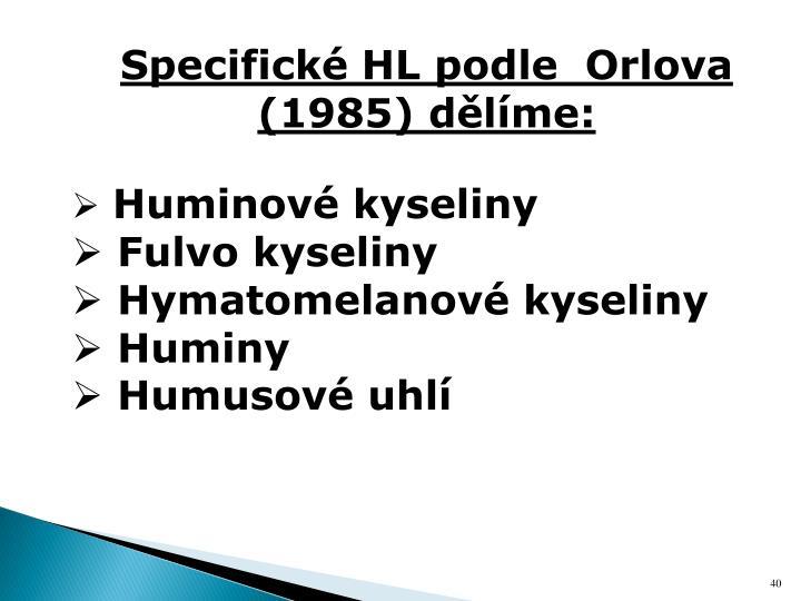 Specifické HL