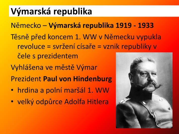 Výmarská republika