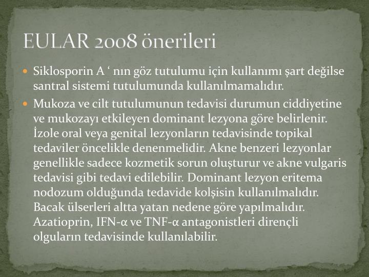 EULAR 2008 önerileri