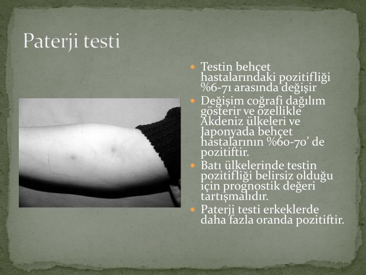 Paterji testi