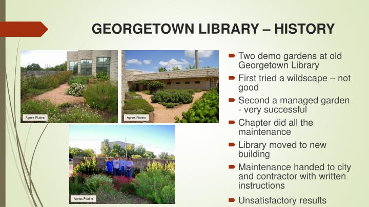 GEORGETOWN LIBRARY – HISTORY