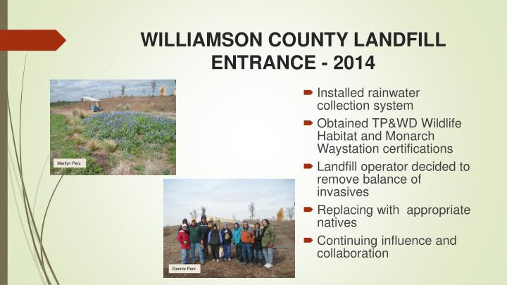 WILLIAMSON COUNTY LANDFILL